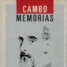 Libros de segunda mano: CAMBÓ : MEMORIAS (ALIANZA, 1987) . Lote 128472859