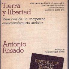 Libros de segunda mano: TIERRA Y LIBERTAD. Lote 128629059