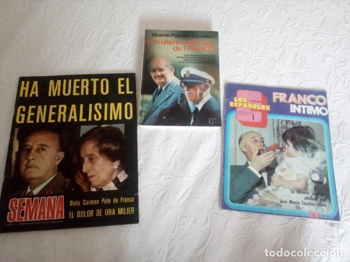 LOTE DE UN LIBRO Y DOS REVISTAS,SOBRE FRANCISCO FRANCO.ESPAÑOLES. (Libros de Segunda Mano - Historia - Guerra Civil Española)