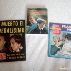 Libros de segunda mano: LOTE DE UN LIBRO Y DOS REVISTAS,SOBRE FRANCISCO FRANCO.ESPAÑOLES.. Lote 130223585