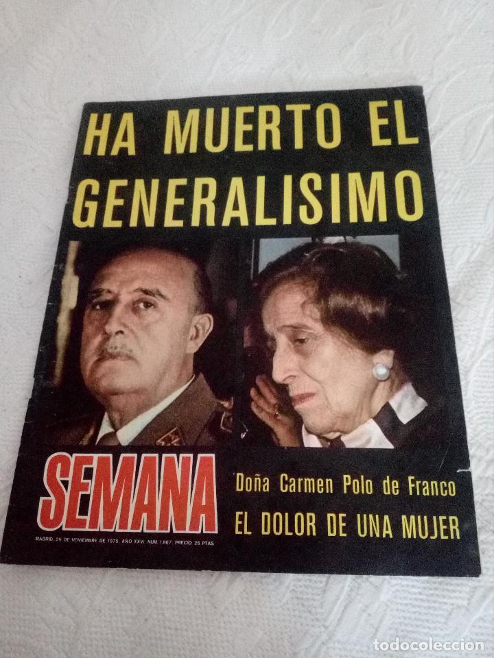 Libros de segunda mano: LOTE DE UN LIBRO Y DOS REVISTAS,SOBRE FRANCISCO FRANCO.ESPAÑOLES. - Foto 2 - 130223585