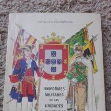 Libros de segunda mano: UNIFORMES MILITARES DE LAS UNIDADES VOLUNTARIAS DE CEUTA-ILUSTRE AYUNTAMIENTO DE CEUTA. Lote 131353346
