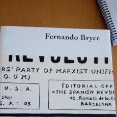 Libros de segunda mano: FERNANDO BRYCE FUNDACIÓ ANTONI TÀPIES, BARCELONA, ABRIL - JULIO 2005 . Lote 132073710