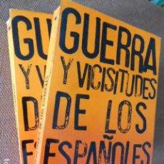 Libros de segunda mano: GUERRA Y VICISITUDES DE LOS ESPAÑOLES. JULIÁN ZUGAZAGOITIA. 2 TOMOS. LIBRERIA ESPAÑOLA, 1968.. Lote 132823846
