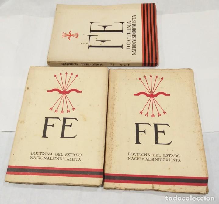FE DOCTRINA DEL DEL ESTADO NACIONALSINDICALISTA. AÑO 1937. 3 LIBROS- DICIEMBRE-ENERO, FEBRERO-MARZO (Libros de Segunda Mano - Historia - Guerra Civil Española)
