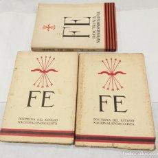 Libros de segunda mano: FE DOCTRINA DEL DEL ESTADO NACIONALSINDICALISTA. AÑO 1937. 3 LIBROS- DICIEMBRE-ENERO, FEBRERO-MARZO . Lote 135352890