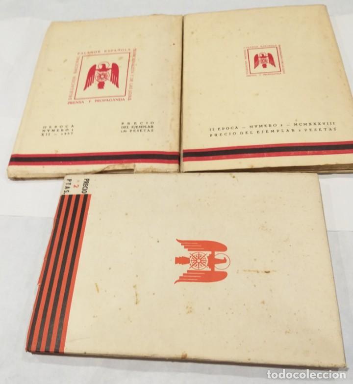 Libros de segunda mano: FE DOCTRINA DEL DEL ESTADO NACIONALSINDICALISTA. AÑO 1937. 3 LIBROS- DICIEMBRE-ENERO, FEBRERO-MARZO - Foto 3 - 135352890