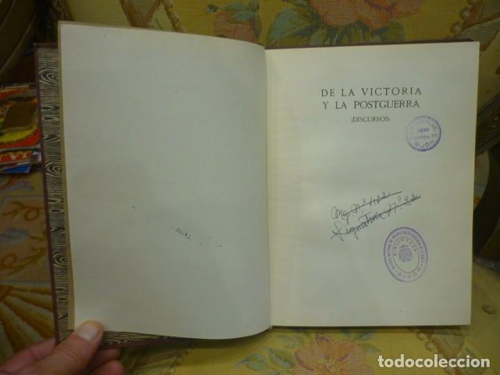 Libros de segunda mano: DE LA VICTORIA Y LA POSTGUERRA (DISCURSOS), DE RAMÓN SERRANO SUÑER. EDICIONES FE, 2ª EDICIÓN 1.941. - Foto 4 - 135484198