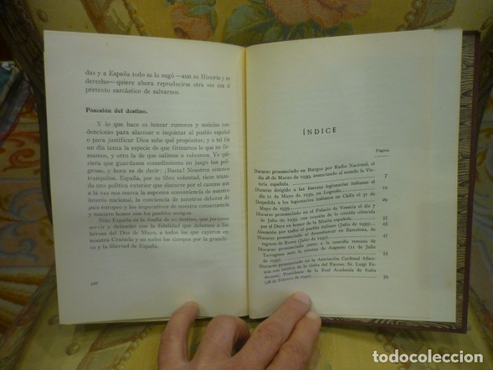 Libros de segunda mano: DE LA VICTORIA Y LA POSTGUERRA (DISCURSOS), DE RAMÓN SERRANO SUÑER. EDICIONES FE, 2ª EDICIÓN 1.941. - Foto 7 - 135484198