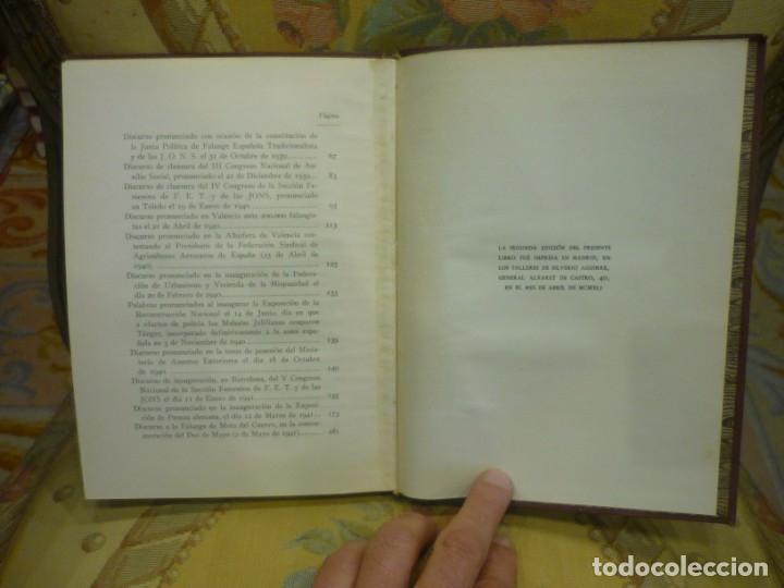 Libros de segunda mano: DE LA VICTORIA Y LA POSTGUERRA (DISCURSOS), DE RAMÓN SERRANO SUÑER. EDICIONES FE, 2ª EDICIÓN 1.941. - Foto 8 - 135484198