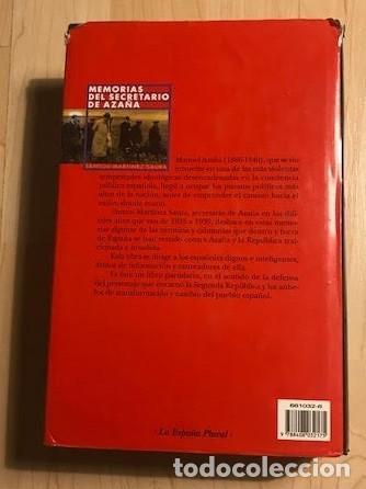 Libros de segunda mano: Memorias del secretario de Azaña 1999 Santos Martínez Saura - Foto 3 - 137988442