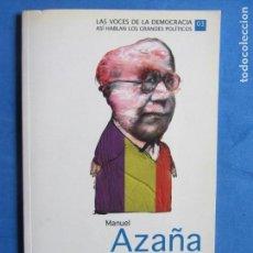 Libros de segunda mano: ESPAÑA HA DEJADO DE SER CATÓLICA Y OTRO DISCURSO. MANUEL AZAÑA. PROLOGO DE JUSTINO SINOVA. Lote 139641394