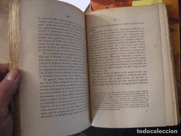 Libros de segunda mano: EL PASADO, AZAÑA Y EL PORVENIR POR EMILIO MOLA VIDAL. 1934. LAS TRAGEDIAS DE INSTITUCIONES MILITARES - Foto 4 - 140070146