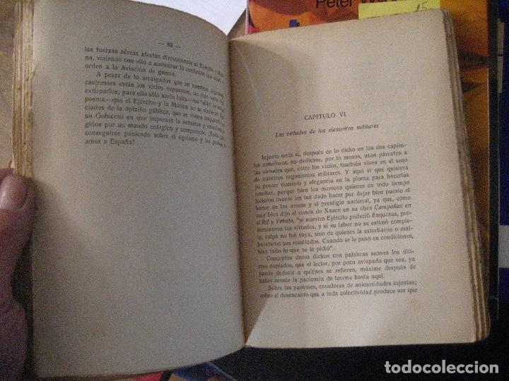Libros de segunda mano: EL PASADO, AZAÑA Y EL PORVENIR POR EMILIO MOLA VIDAL. 1934. LAS TRAGEDIAS DE INSTITUCIONES MILITARES - Foto 5 - 140070146