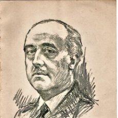 Libros de segunda mano: DIBUJO GENERAL FRANCISCO FRANCO,FIRMA ORIGINAL DE RAIMUNDO FERNANDEZ CUESTA,FALANGE,DE LIBRO 1952. Lote 140134982