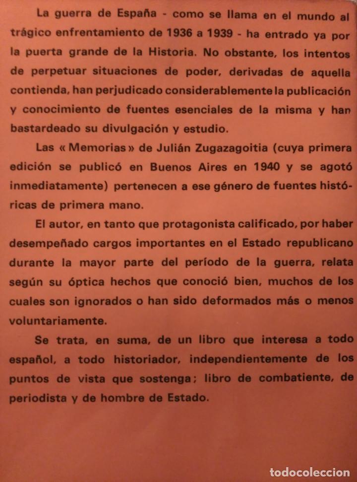 Libros de segunda mano: Guerra y vicisitudes de los Españoles, Zugazagoitia, 1968 - Foto 8 - 140450434