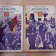 Libros de segunda mano: 'RECUPEREM LA NOSTRA HISTÒRIA. DOCUMENTS' 1931-1939 (2 VOLUMS). Lote 140980946