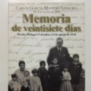Libros de segunda mano: MEMORIA DE VEINTISIETE DÍAS. CARLOS GARCIA-MAURIÑO LONGORIA. RONDA 17 DE JULIO A 12 AGOSTO 1936. Lote 141841798