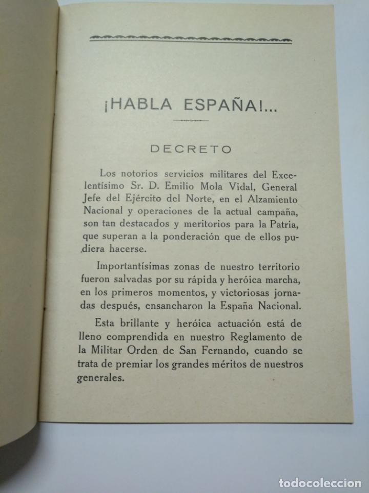 Libros de segunda mano: MOLA. - DOCTRINAL DE UN HEROE Y HOMBRE DE ESTADO. BILBAO 1937. TDKLT - Foto 3 - 141895762