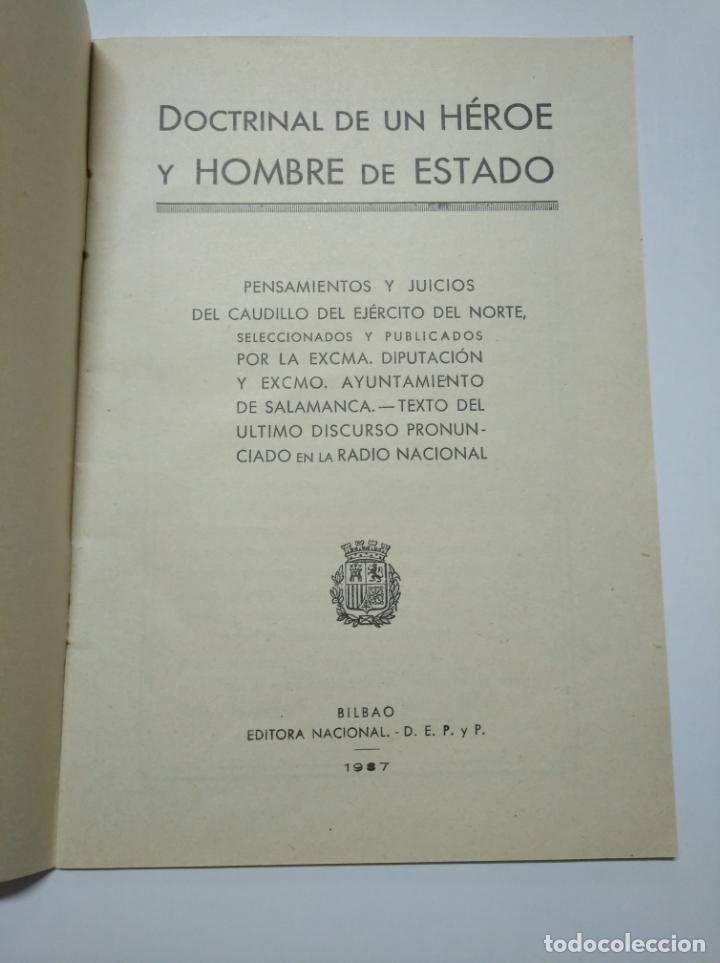 Libros de segunda mano: MOLA. - DOCTRINAL DE UN HEROE Y HOMBRE DE ESTADO. BILBAO 1937. TDKLT - Foto 5 - 141895762