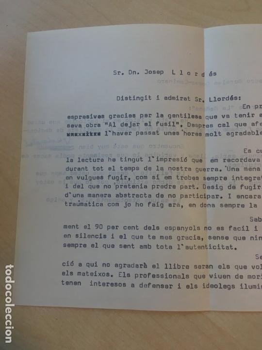 Libros de segunda mano: José Llordés Badía. Al dejar el fusil: memorias de un soldado raso... DEDICATORIA DEL AUTOR - Foto 4 - 142393014