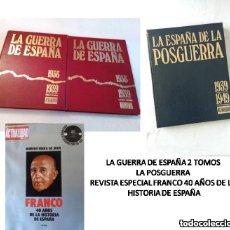 Libros de segunda mano: LA GUERRA DE ESPAÑA 1936-39–LA ESPAÑA DE LA POSGUERRA 1939-49 LA ACTUALIDAD ESPAÑOLA-COMPLETA. Lote 142942534