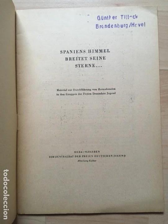 Libros de segunda mano: Spaniens Himmel breitet seine Sterne... RDA, Brigadas Internacionales - Foto 4 - 143027218
