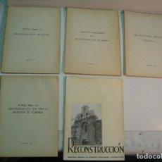 Libros de segunda mano: RECONSTRUCCIÓN DE ESPAÑA: 5 LIBROS (1940 - 1942). Lote 145536570