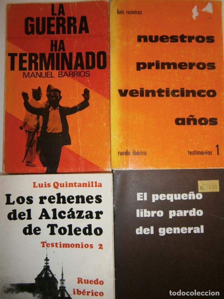 LOTE GUERRA CIVIL ESPAÑOLA Y FRANQUISMO 4 LIBROS (Libros de Segunda Mano - Historia - Guerra Civil Española)