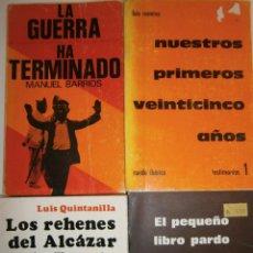 Libros de segunda mano: LOTE GUERRA CIVIL ESPAÑOLA Y FRANQUISMO 4 LIBROS. Lote 145545438