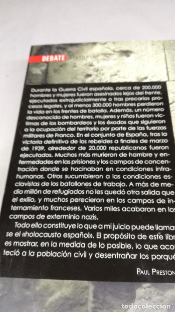 Gebrauchte Bücher: EL HOLOCAUSTO ESPAÑOL/ PAUL PRESTON/ ODIO Y EXTERMINIO EN LA GUERRA CIVIL Y DESPUES/ DEBATE - Foto 3 - 147724494