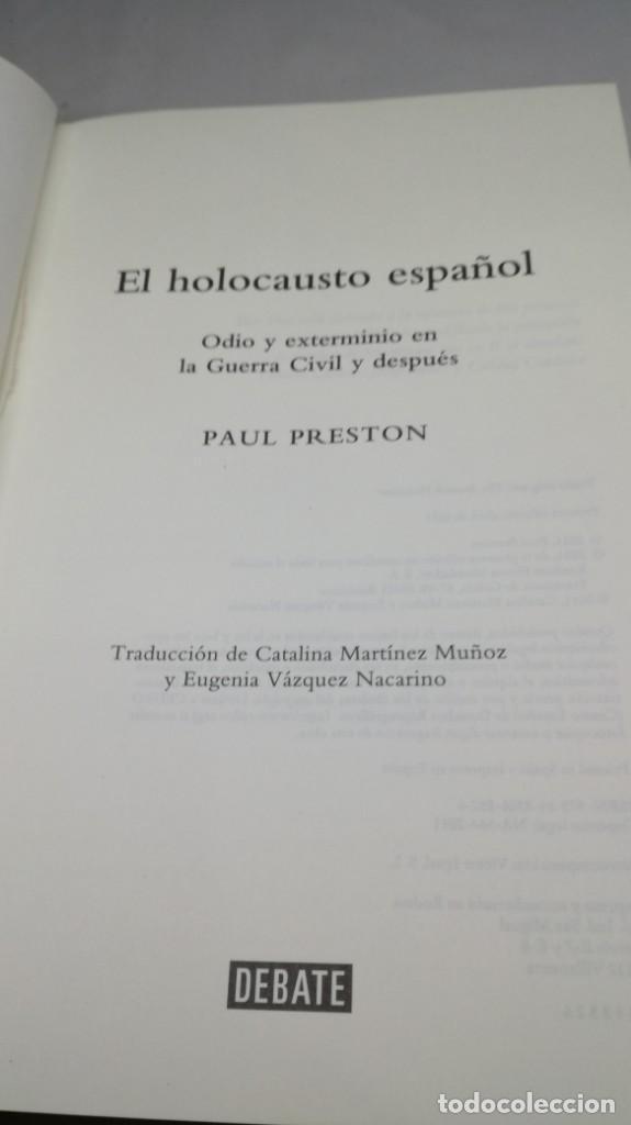 Gebrauchte Bücher: EL HOLOCAUSTO ESPAÑOL/ PAUL PRESTON/ ODIO Y EXTERMINIO EN LA GUERRA CIVIL Y DESPUES/ DEBATE - Foto 8 - 147724494