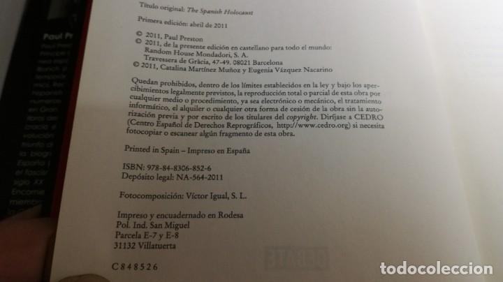 Gebrauchte Bücher: EL HOLOCAUSTO ESPAÑOL/ PAUL PRESTON/ ODIO Y EXTERMINIO EN LA GUERRA CIVIL Y DESPUES/ DEBATE - Foto 9 - 147724494