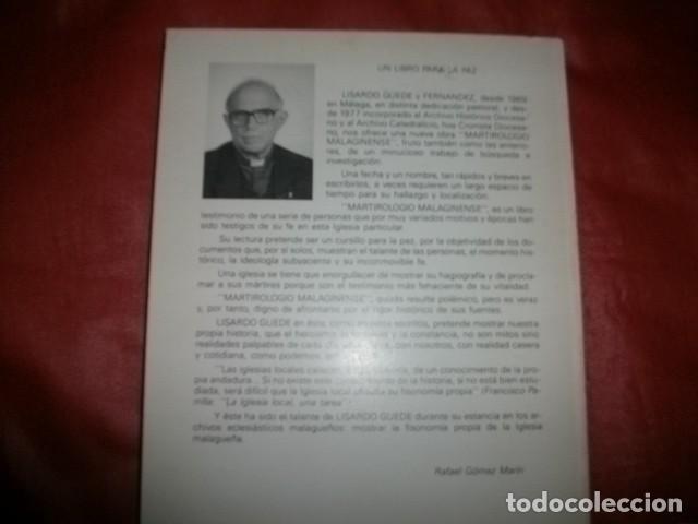 Libros de segunda mano: Martirologio Malaginense ( mártires de la Guerra Civil en Málaga) Lisardo Guede (con dedicatoria) - Foto 3 - 147732418