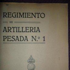 Libros de segunda mano: HISTORIAL DEL REGIMIENTO DE ARTILLERÍA PESADA Nº 1, AÑOS 1936-1939, CÓRDOBA. Lote 147753666