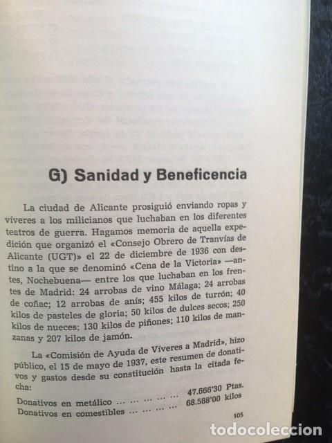 Libros de segunda mano: LA GUERRA CIVIL 1936 - 1939 EN LA PROVINCIA DE ALICANTE - 2 TOMOS (DE 3) - VICENTE RAMOS - Foto 6 - 148009018