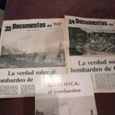 Libros de segunda mano: GUERNICA: EL BOMBARDEO. 1981. Y DOS DOCUMENTOS. JESÚS SALAS LARRAZABAL. Lote 148093634