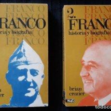 Libros de segunda mano: FRANCO, HISTORIA Y BIOGRAFÍA – BRIAN CROZIER. Lote 150176634