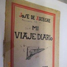 Libros de segunda mano: MI VIAJE DIARIO , JOSE ARTECHE 1950 , DEDICADO POR EL AUTOR , EDITORIAL ICHAROPENA . Lote 150297370