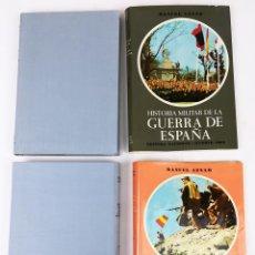 Libros de segunda mano: 2 TOMOS HISTORIA MILITAR DE LA GUERRA DE ESPAÑA. MANUEL AZNAR. EDITORA NACIONAL. MADRID 1969. Lote 151097010