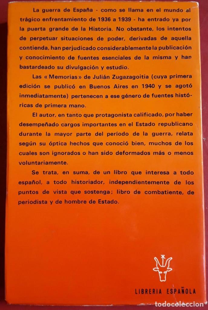 Libros de segunda mano: Julián Zugazagoitia . Guerra y vicisitudes de los españoles I - Foto 2 - 151151974