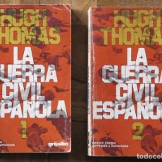Libros de segunda mano: HUGH THOMAS. LA GUERRA CIVIL ESPAÑOLA. 2 TOMOS. GRIJALBO. 4ª EDICIÓN, 1978. Lote 151310854