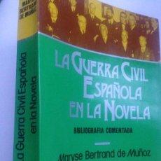 Libros de segunda mano: LA GUERRA CIVIL ESPAÑOLA EN LA NOVELA, TOMO I. BIBLIOGRAFÍA COMENTADA (BERTRAND DE MUÑOZ, MARYSE). Lote 151944222
