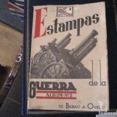 Libros de segunda mano: ESTAMPAS DE LA GUERRA. ALBUM Nº 2. DE BILBAO A OVIEDO. GUERRA CIVIL ESPAÑOLA. Lote 152159982