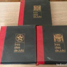 Libros de segunda mano: TRES DIAS DE JULIO (18, 19 Y 20) - LUIS ROMERO - AMIGOS DE LA HISTORIA - 1969. Lote 196036075