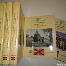 Libros de segunda mano: CRÓNICA DE LA GUERRA CIVIL DE 1936 1937 EN LA EUZKADI PENINSULAR 5 TOMOS ILUSTRADOS PAIS VASCO. Lote 152363932