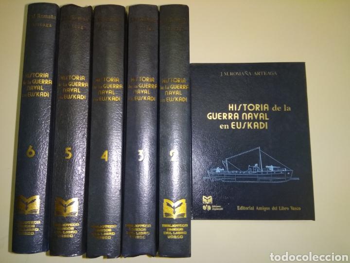 HISTORIA DE LA GUERRA NAVAL EN EUSKADI PAIS VASCO GUERRA CIVIL 6 TOMOS OBRA COMPLETA (Libros de Segunda Mano - Historia - Guerra Civil Española)