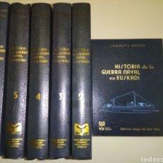 Libros de segunda mano: HISTORIA DE LA GUERRA NAVAL EN EUSKADI PAIS VASCO GUERRA CIVIL 6 TOMOS OBRA COMPLETA. Lote 152494076
