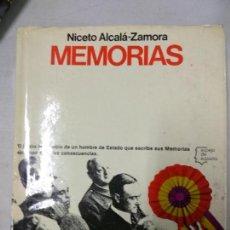 Libros de segunda mano: NICETO ALCALÁ ZAMORA. MEMORIAS. Lote 152882630