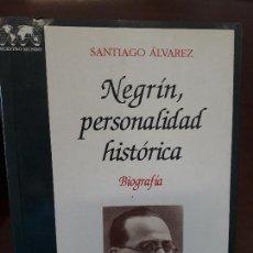 Libros de segunda mano: NEGRIN, PERSONALIDAD HISTORICA - ED. DE LA TORRE - 1994 - SANTIAGO ALVAREZ - COMO NUEVO. Lote 159633030